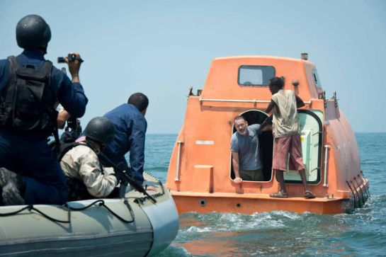 The film ramps up the tension as Captain Philips is trapped aboard the lifeboat with the Somalis.