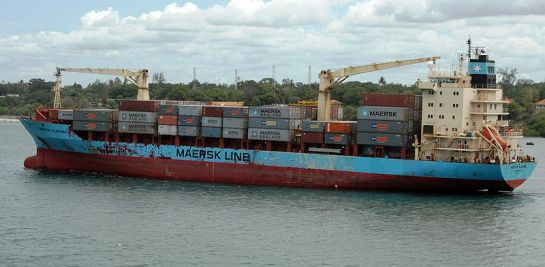 The real container ship Maersk Alabama.