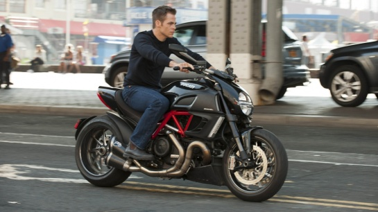 "Taking to the streets with a nod to Bourne franchise in ""Shadow Recruit""."