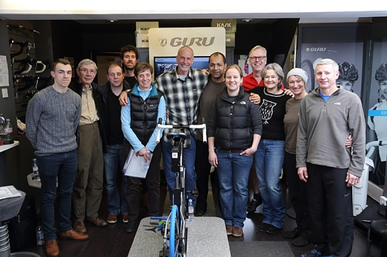 Dan Empfield, inventor of the triathlon bike and of the Stack and Reach sizing convention teaches a F.I.S.T. bike fitting class in England.