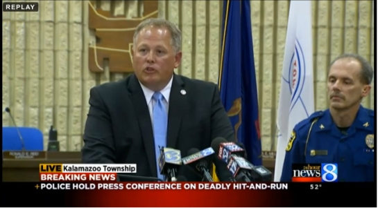 Kalamazoo County Prosecutor Jeff Gedding delivers press conference at 11:00 PM on Tuesday, June 7 about the accident.